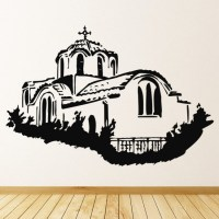 Greek Building Wall Sticker Greek Wall Art