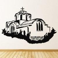 Greek Building Wall Sticker Greek Wall Art