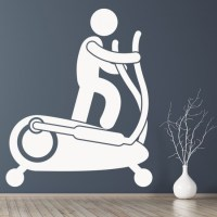 Cross Trainer Wall Sticker Gym Wall Art