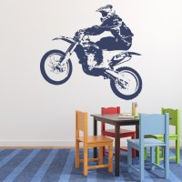 Dirt Bike Jumping Wall Sticker Bike Wall Art