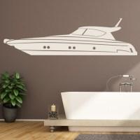Speed Yacht Wall Sticker Boat Wall Art