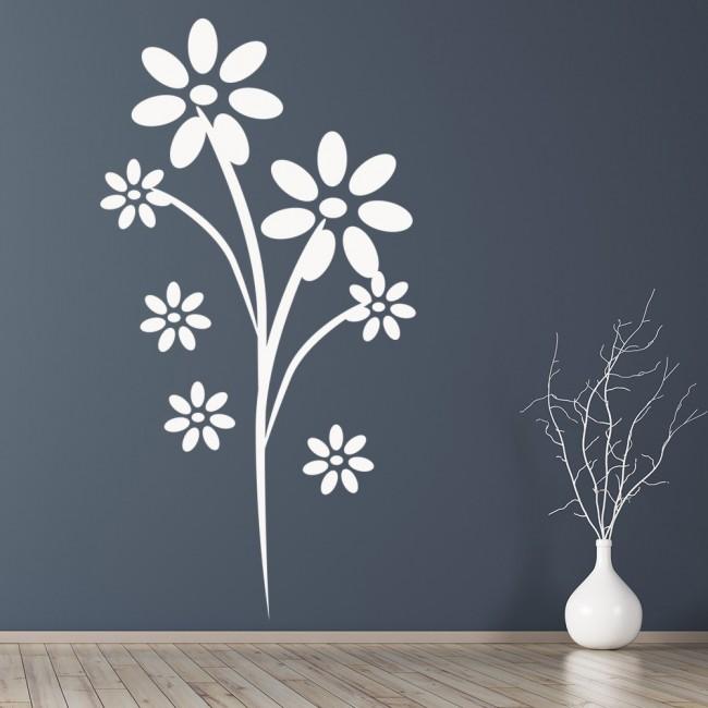 Wallpaper For Girls Room Daisy Flower Wall Sticker Nature Wall Art