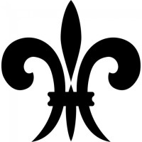 Fleur De Lis Wall Sticker Embellishment Wall Art