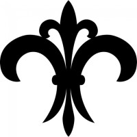 Simple Fleur De Lis Wall Sticker Embellishment Wall Art