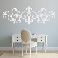 Fleur De Lis Header Wall Sticker Decorative Wall Art