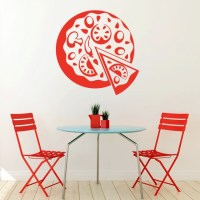 Pizza Wall Sticker Takeaway Food Wall Decal Kitchen Cafe ...