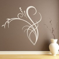 Dotted Floral Edge Wall Sticker Floral Wall Art