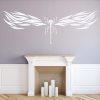 Tribal Dragon Fly Wall Sticker Insects Wall Decal Kids ...