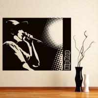 Hip Hop Wall Sticker Music Wall Art