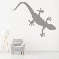 Gecko Silhouette Lizard Reptile Wild Animals Wall Sticker ...