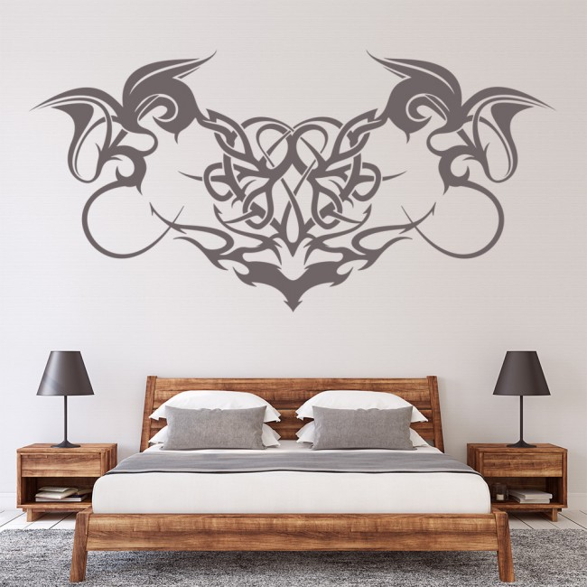 Gothic Swirls Wall Sticker Decorative Headboard Wall Decal