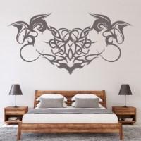 Gothic Swirls Wall Sticker Decorative Headboard Wall Decal ...