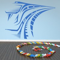 Speed Train Wall Sticker Transport Wall Decal Boys Bedroom ...