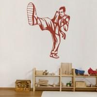 Karate Kick Wall Sticker Martial Arts Wall Decal Boys ...