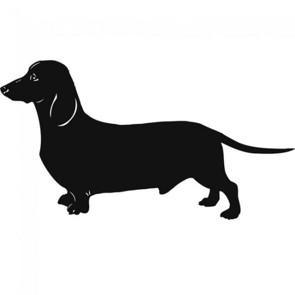 dachshund dog wall sticker pet