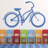 Classic Bike Wall Sticker Bicycle Wall Decal Cycling ...