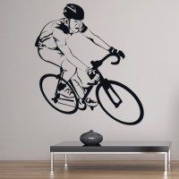 Bike Racer Cyclist Wall Sticker Cycling Sports Wall Decal ...