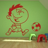 Kids Football Wall Art Decal Decorative Wall Decal