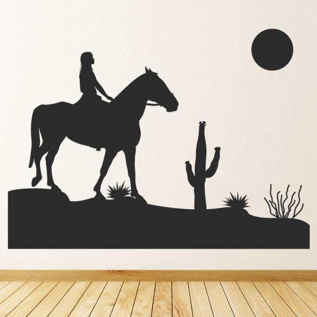 Wallpaper For Girls Room Uk Girl Riding Horse Wall Art Sticker Wall Decal