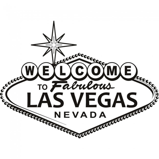 Las Vegas Welcome Sign Wall Sticker