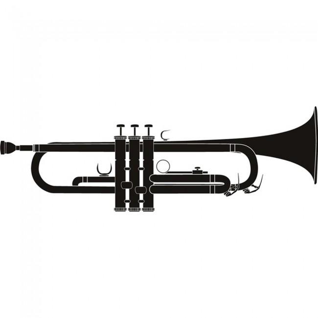 Trumpet Wall Sticker Music Wall Art