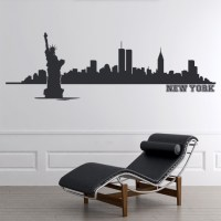 New York Wall Sticker City Skyline Wall Decal Living Room