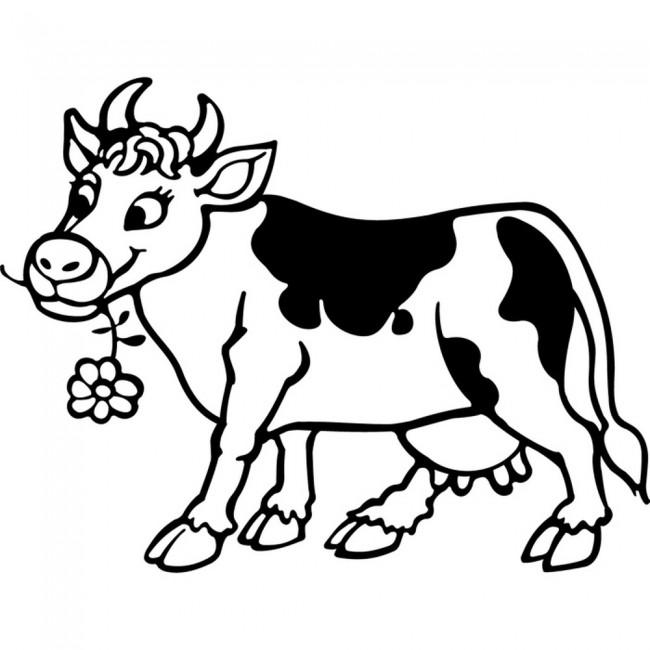 Cartoon Cow Wall Sticker Cartoon Wall Art