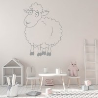 Cartoon Sheep Wall Sticker Cartoon Wall Art