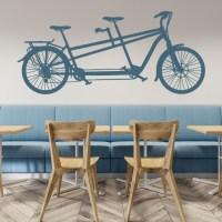 Tandem Bike Wall Sticker Bike Wall Art