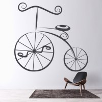Penny Farthing Wall Sticker Vintage Bicycle Wall Decal ...
