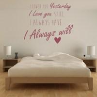 I Love You Romance Quote Wall Sticker