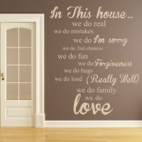 In This House Wall Sticker Home Wall Art