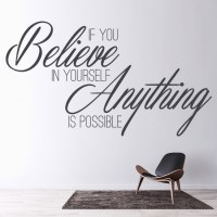 Believe In Yourself Inspirational Quote Wall Sticker