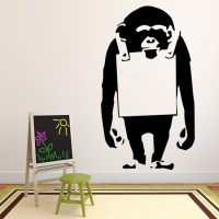 Banksy Monkey Wall Sticker Graffiti Street Art Wall Decal ...