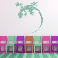 Gecko Lizard Wall Sticker Animals Wall Decal Boys Bedroom ...