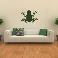 Simple Frog Silhouette Wall Sticker Animal Wall Art