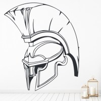 Spartan Helmet Wall Sticker Roman Wall Art