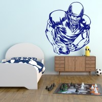 Football Player Wall Stickers Sports Wall Art