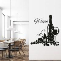 Wine bottle Embellishment Wall Sticker Decorative Wall Art