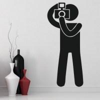 Stickman Photographer Wall Sticker Stickman Wall Art
