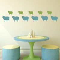 Sheep Wall Sticker Pack Farm Animals Wall Decal Kitchen ...