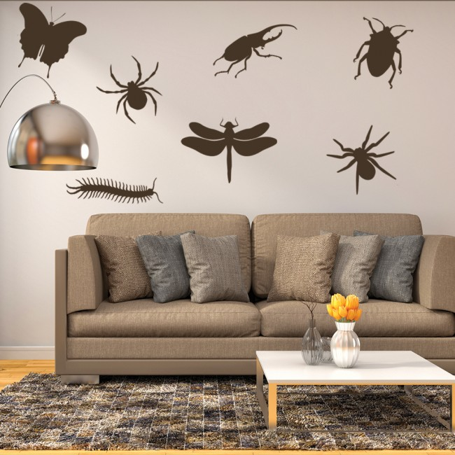 Girls Wallpaper Pack Insect Group Wall Stickers Creative Multi Pack Wall Decal Art