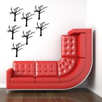 Bare Branched Tree Wall Sticker Creative Multi Pack Wall ...
