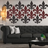 Fleur De Lis Simple Silhouette Wall Sticker Creative Multi ...