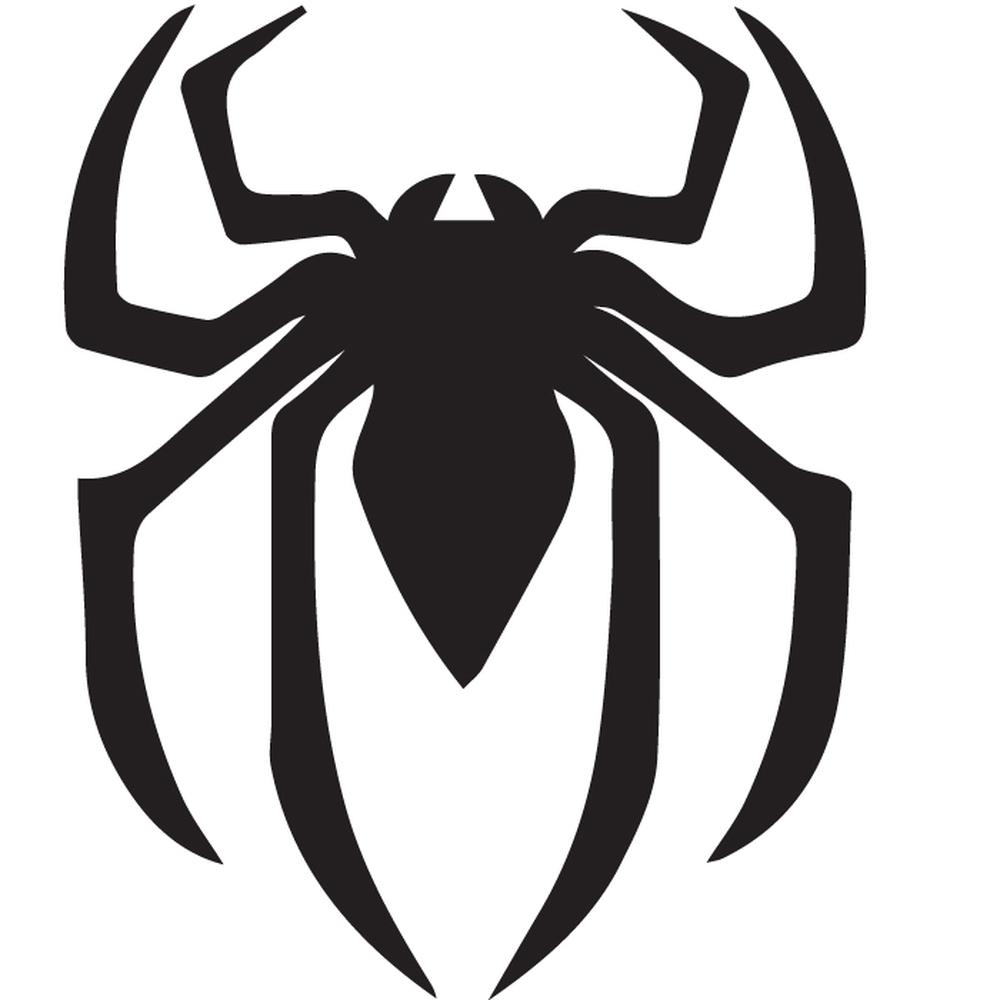Black Removable Wallpaper Spider Man Logo Silhouette Wall Sticker Creative Multi
