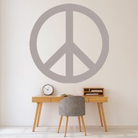 Simple Peace Sign Wall Sticker Decorative Wall Decal Art