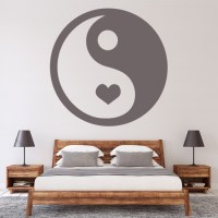 Heart Peace Sign Wall Sticker Decorative Wall Decal Art