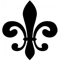 Classic Fleur De Lis Silhouette Wall Sticker Decorative ...