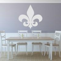 Fleur De Lis Simple Silhouette Wall Sticker Decorative ...