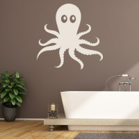 Cartoon Octopus Wall Sticker Decorative Wall Decal Art